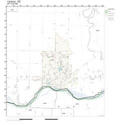 Working Maps Zip Code Wall Map Of Yankton Sd Zip Code Map Laminated