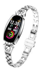 MBHB Female's Smart Watch Exquisite Fitness Tracker Blood Pressure heart Rate sleep Monitor For Women Silver Hsilver