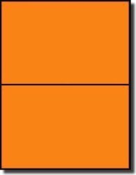 "Label Outfitters, Inc. 200 Label Outfitters Fluorescent Orange Laser Only Labels 8-1 2"" X 5-1 2"" 100 Sheets"