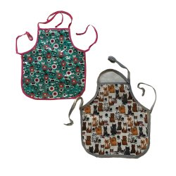 Apron Kids 2 Set Cats & Tea