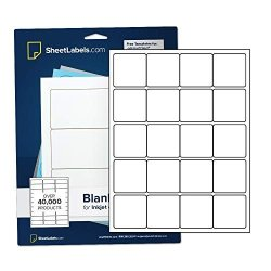"2"" X 2"" Labels From Sheetlabels.com Laser Or Inkjet Printable Easy To Peel 500 Labels"