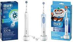 Oral-b White Pro 1000 Power Rechargeable Electric Toothbrush With Kids Electric Toothbrush With Sensitive Brush Head And Timer F