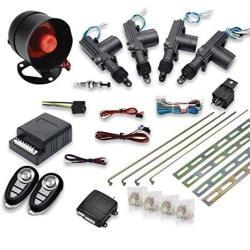 Maso Car Remote Central Locking Kit 4 Doors Keyless Entry System + Anti-theft Alarm Immobiliser System With Shock Sensor Univers