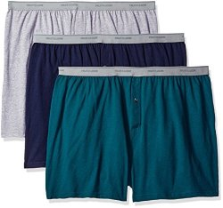 Fruit Of The Loom Men's Underwear Fruit Of The Loom Men's Big Man Knit Boxers Pack Of 3 Assorted Solids 4XB