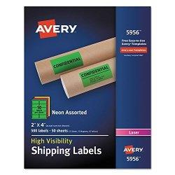 AVE5956 - Averyreg Neon Shipping Labels