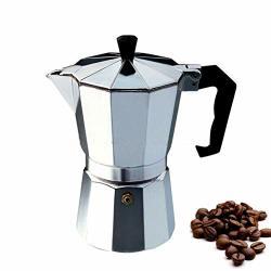 Milky House 3-CUP Stovetop Espresso Maker Italian Moka Pot Coffee Maker Cuban Stove Top Coffee Maker