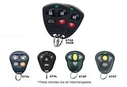 Two Dei 474T 474P 474V 474L Oem Replacement Remote 474A - Pair