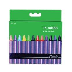 Treeline Jumbo Wax Crayons 12 Piece