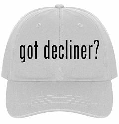 The Town Butler Got Decliner? - A Nice Comfortable Adjustable Dad Hat Cap White