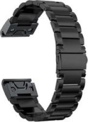 Stainless Steel Link Band For Garmin Fenix 3 5X Black