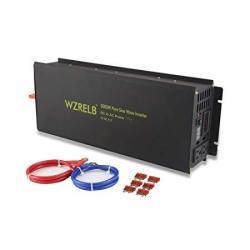 Wzrelb 3000W Pure Sine Wave Solar Power Inverter Generator 24V Dc To 120V Ac Converter Car Inverter