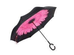 Reversible Umbrella With Design - Pink Peony