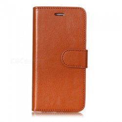 Esamact Flip-open Leather Wallet Phone Cover Case For Iphone 6 - Brown