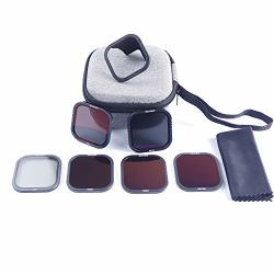 Skyreat Nd Filters For Gopro Hero 8 Black 6 Pack - CPL ND8 ND16 ND32 ND64 ND1000 With Hotswap Magnetic Filter Base
