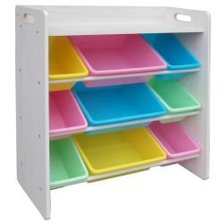 Greenbean Pastel Shelf Storage Organizer - 9 Bins