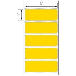 Labels And More 2 Rolls Of Colored 3X1 Direct Thermal 1375 Labels P r 1 Roll Each Yellow Orange