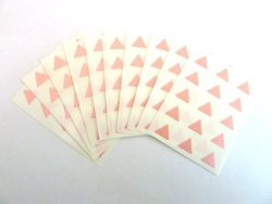 Minilabel 150 Labels 10MM Triangle Colour Code Stickers Pink