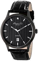 Kenneth Cole New York Men's KC8071 Rock Out Analog Display Analog Quartz Black Watch