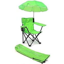 Redmon Umbrella Camping Chair With Matching Shoulder Bag Lime Green