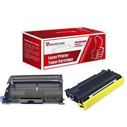 Awesometoner Compatible 2 Pack DR350 TN350 Drum Unit And Toner Cartridge For Brother DCP-7020 High Yield Drum : 13 000 Pages Toner : 2 500 Pages