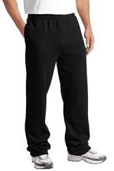 Sport-Tek Open Bottom Sweatpant 2XL Black