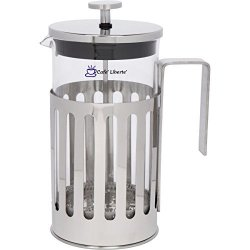 Cafe' Liberte' Products Cafe'liberte' French Coffee tea Press Polished Stainless Steel 34 Oz