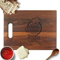 Froolu Master Chef Wooden Cutting Board For Good Cook Birthday Gifts