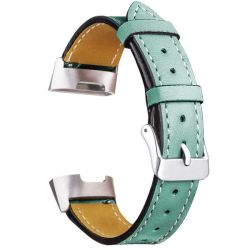 Killerdeals Leather Replacement Band For Fitbit Charge 3 - Frost Green