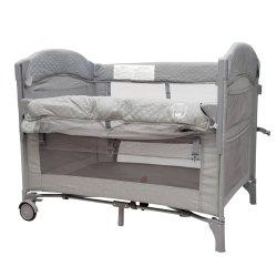 BabyWombWorld Premium 2-IN-1 Co Sleeper & Camp Cot - Grey