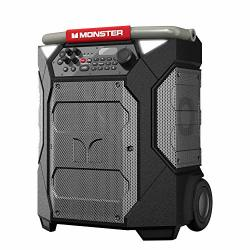 Monster Rockin' Roller 270 Portable Indoor outdoor Wireless Speaker 200 Watts Up To 100 Hours Playtime IPX4 Water Resistant Qi Charger Connect To Another Tws Speaker