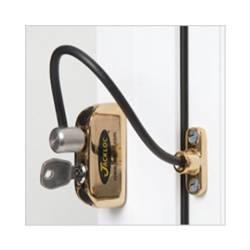 Jackloc Window Restrictor Brass