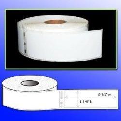 "Menotek 1-1 8"" X 3-1 2"" Address Labels 6 Rolls - 2100 Labels Dymo 30252 Compatible"