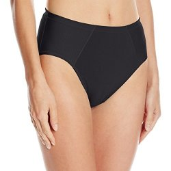 Vanity Fair Women's Intimates Vanity Fair Women's Cooling Touch Cotton Stretch Hi Cut Panty 13321 Midnight Black MEDIUM 6