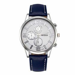 Nxda Classic New Men Watch Wrist Watch Leather Strap Quartz Casual Watches Navy