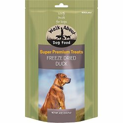 WALKABOUT PET TREATS Walkabout Freeze Dried Dog Treats Duck 4 Oz
