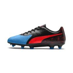 Puma Men's One 19.4 Black blue red Boots