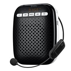 Apec World Inc Shidu S718 Wireless Voice Amplifier Ultralight Unique Portable Rechargeable With Comfortable Wireless Microphone For Teachers Tour Guides Coaches Presentations Costumes Etc.-black