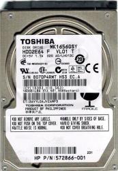 """HDD HDD2E64 Toshiba MK1656GSY 160GB Internal 7200RPM 2.5/"""""""