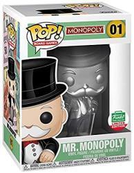 MONOPOLY Funko Pop Board Games Silver Mr. Limited Edition Vinyl Figure