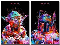 The Originall Two Packs Star Wars Full Drill Diamond Painting 5D Diy Diamond Embroidery Cross Stitch Rhinestone Art Craft Classic Movie Pictures Mosaic Painting Home Wall