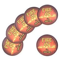 """Shatter Labels 100 Fire Og Shatter 0.5 Gram Collective Supply Medical Rx Labels Stickers 1"""" CS-012"""