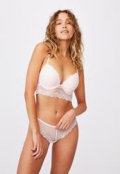 Cotton On Stevie Lace Bikini Brief - Pretty Pink