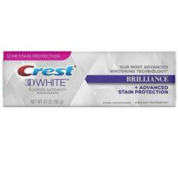 Crest 3D White Brilliance Toothpaste Vibrant Peppermint 4.1 Oz Pack Of 4