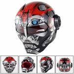 Adult Y.p Kids Motorcycle Helmet Personality Iron Man Motorbike Moped Full Face Crash Helmet D.o.t Certified C L