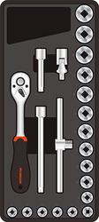 FIXMAN 22-pc 3 8 Dr.sockets & Accessories