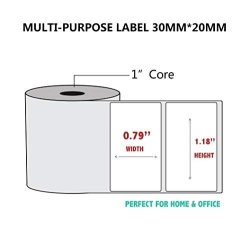 Netum Self-adhesive Multi-purpose Label Paper Compatible For Netum G5 Label Printer -1 Roll Of 320 Labels 30X20MM