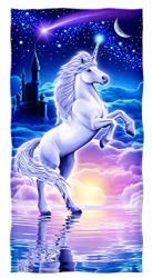 Dawhud Direct Cotton Beach Towel Unicorn