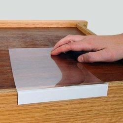 "WarehouseTags Moveable Shelf Label Holder 3 4"" High X 5"" Label Holder Moveable Shelf Clear 10 Holders Pack"