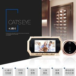 Hatop 4.3INCH Tft Lcd Digital Wireless Doorbell Peephole Viewer Door Eye Camera Monit