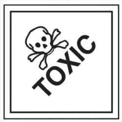 Ace Label Preprinted Toxic Shipping Label 4 X 4 Inches Black Roll Of 500 44210F